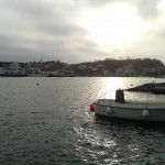 View of Grimstad from across the harbour