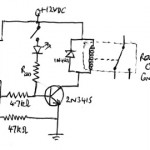 Optocoupler to relay circuit