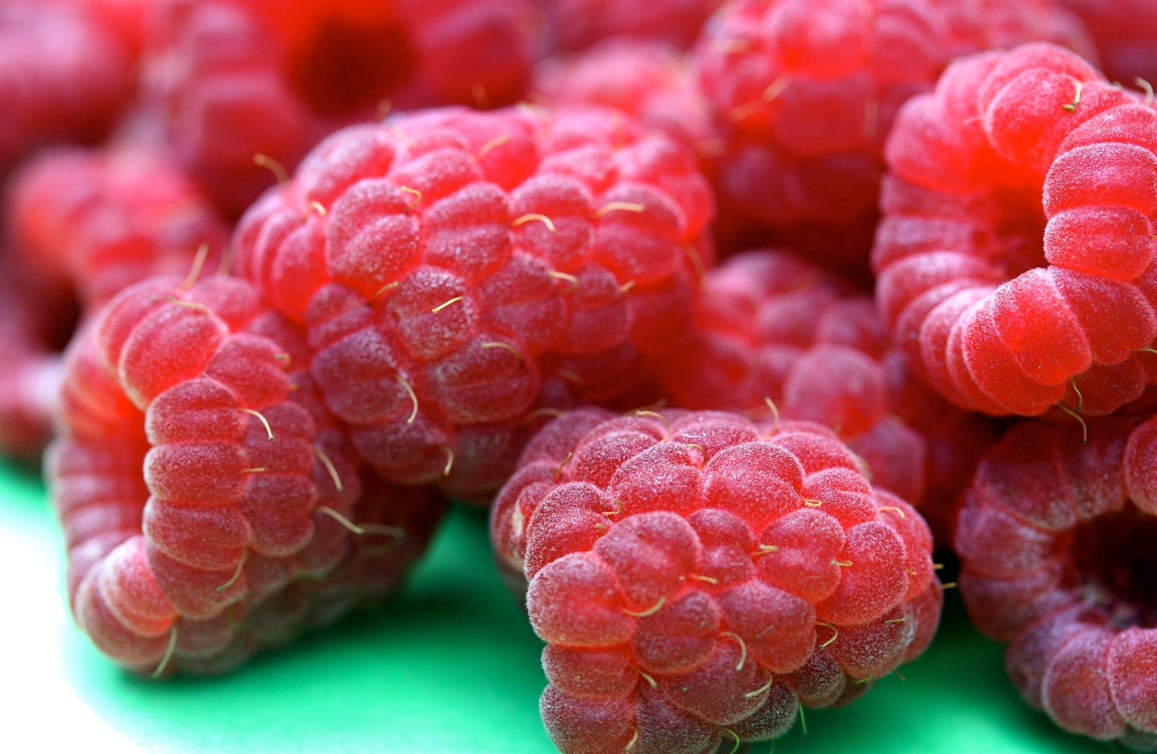 Raspberries by Liz West (Muffet on Flickr)